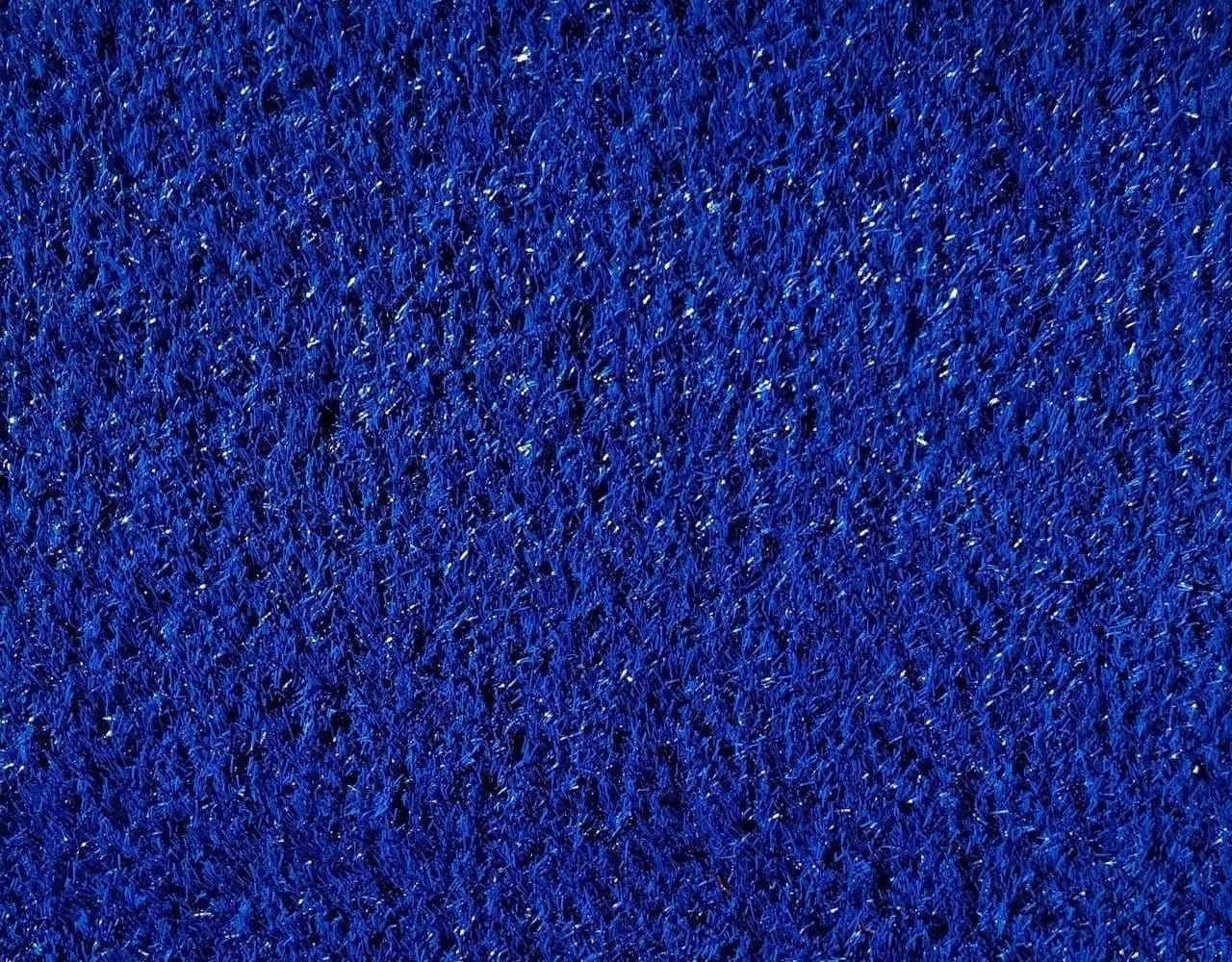 Синий искусственный газон