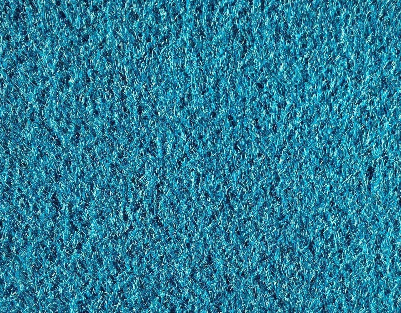 Голубой искусственный газон
